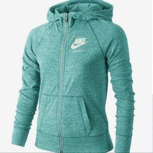 "Nike ""just do it"" zip-up marble hoodie sweater."